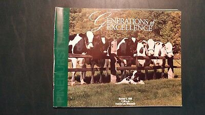 Pinehurst Farms Generation Of Excellence Holstein Sale Catalog 1996 Wisconsin