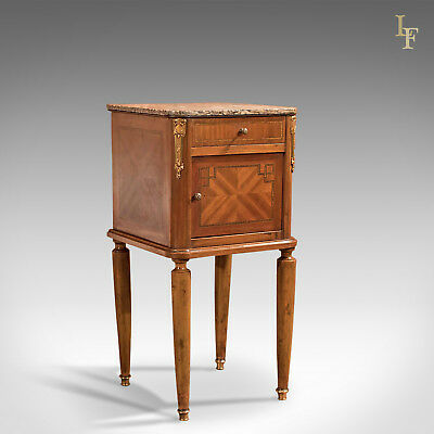 Antique Pot Cupboard, Mahogany Bedside Table, French, Nightstand c.1900