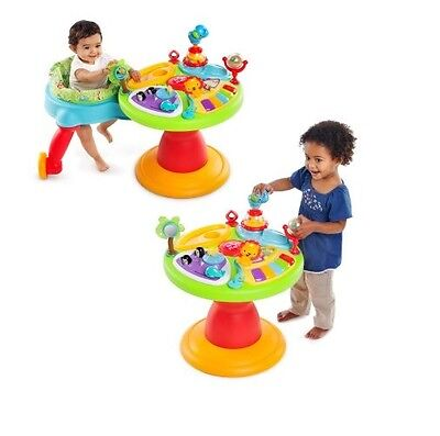 Baby Walker Bouncer Seat Stand Playset Toy Game Table Toddle Play Infant Child