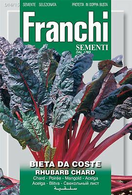 Franchi Seeds of Italy - Swiss Chard - Rhubarb Chard - Seeds
