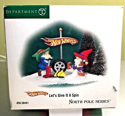 Department 56 Let's Give It A Spin - Hot Wheels North Pole - New Orig Box #56441