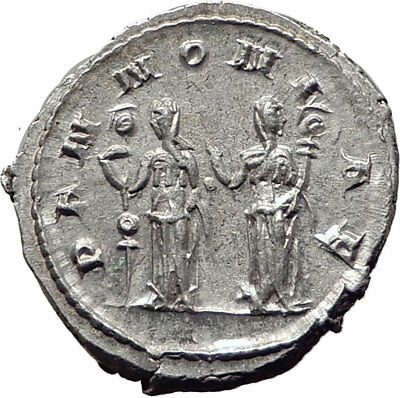 TRAJAN DECIUS 250AD Rome Silver Authentic Ancient Roman Coin Pannoniae i65340