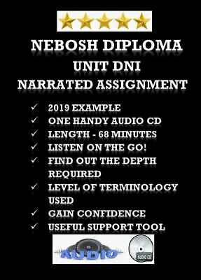 Nebosh Diploma Unit Dni Narrated Assignment Cd 68 Minutes