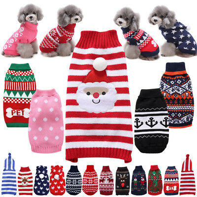 Multi Style Pet Dog Cat Clothes Coat Jacket Winter Sweater Jumper Warm Hoodie