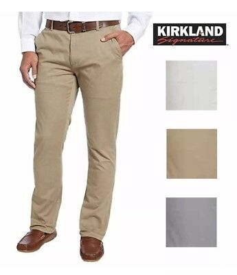 Kirkland Signature Men's Chino Pant Standard Fit Straight Leg VARIETY Sz & Color
