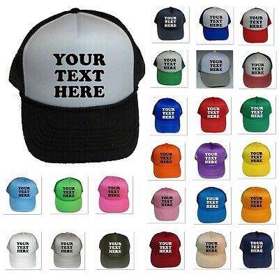 New Personalized Custom Print Your Own Text On A Cap Hat Trucker Customized