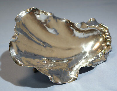 Italian Cartier Sterling Silver Oyster Shell Hors d'oeurve Dish Circa 1930s