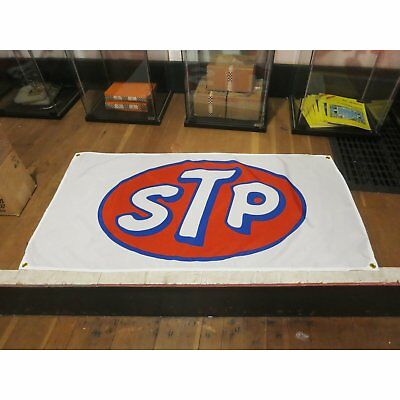 STP Banner Motor Oil Gas Garage Auto Shop Racing V8 Vintage Richard Petty NOS LS