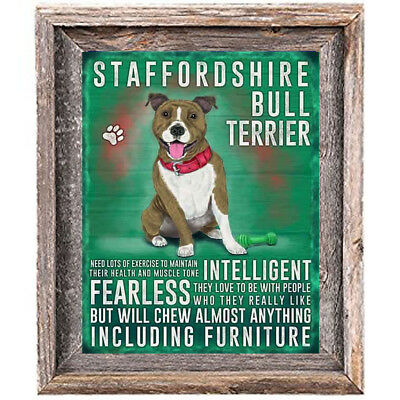 "STAFFORDSHIRE BULL TERRIER character Quote Art Print 8"" x 10""  home wall decor"