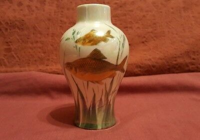 Very Rare Royal Doulton 1920s Lustre Fish Vase