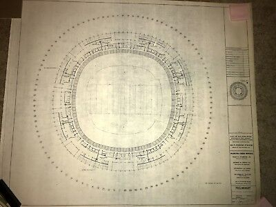 Veterans Stadium Vintage Blueprint - Philadelphia Eagles - Phillies
