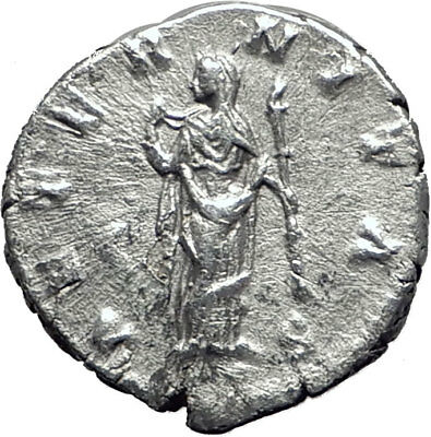 FAUSTINA II Jr  175AD Silver Authentic Ancient Roman Coin AETERNITAS  i65078