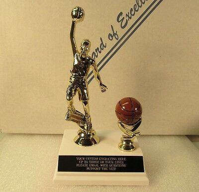 "Basketball Trophy Award Youth Fantasy 7"" M or F FREE Engraving Shiped 2 Day Mail"