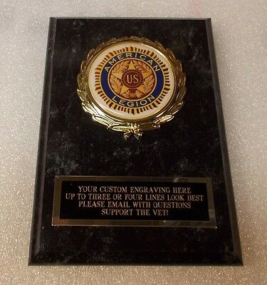 American Legion Award Plaque FREE Engraving Ships 2 Day Priority