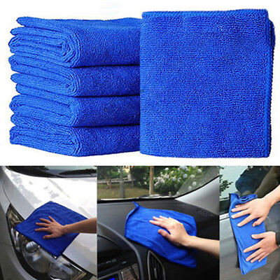 10pcs  Microfibre Cleaning Auto Car Soft Cloths Wash Towel Duster 20x20cm  Kit~