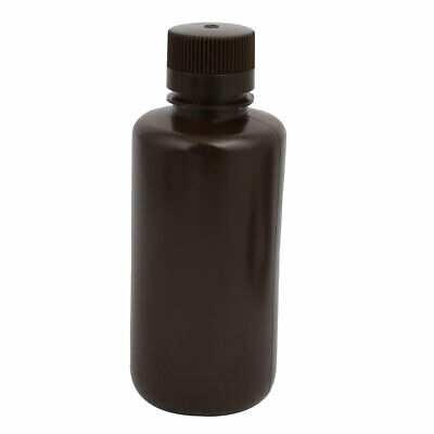 75mm Dia 175mm Height 500ml HDPE Plastic Rectangle Small Mouth Bottle Brown