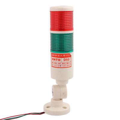 DC 24V Red Green Buzzer Indicator Safety Industrial Signal Warning LED Light