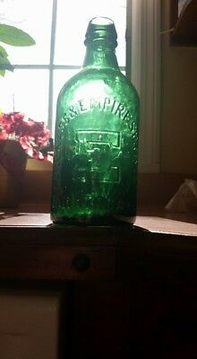 X Base Green Congress Empire Pint Saratoga Mineral Water 1870 Cond+ Stoddard NH?