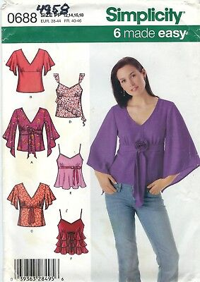 Simplicity 4958 Misses' Tops    Sewing Pattern