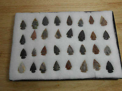Vintage Collection of 32 Northern California Arrowheads