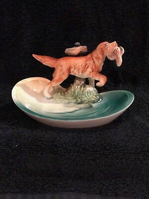 Mid Century  Napco Japan Irish Setter Trinket Jewelry Dish #B 3877