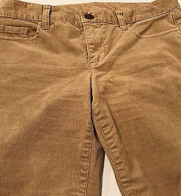 J Crew City Fit Straight Leg Stretch Corduroy Pants Low Rise Sz 29R Tan EUC