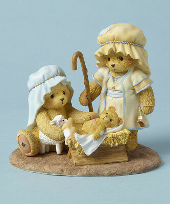 Cherished Teddies Touched By Peace Holy Family Bear Christmas Figurine 4053474