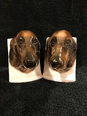 Vintage Irish Setter Bookends Made In Japan