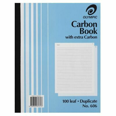 Olympic 606 Carbon Book Duplicate 100 Pages 10X8 - 140853