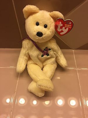 "TY Beanie Babies ""MOTHER"" Christmas Yellow Mother's Day Bear. 2002. 8"". NEW"