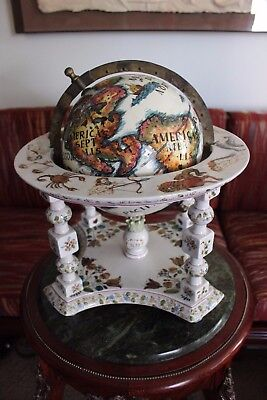 ANTIQUE PORCELAIN WORLD GLOBE Circa 1800