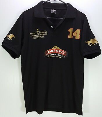James Boags Supporting Australian Horse Racing Polo Shirt - Size Small