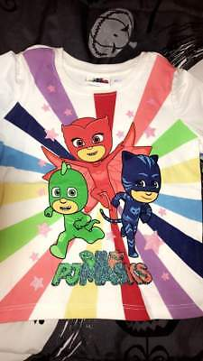 Pj Masks Girls Shirt Size 2T 3T 4T 5T New!
