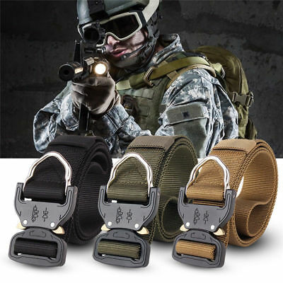 Tactical Heavy Duty US Soldier Mens Military Belt Web Combat Army Training Belt