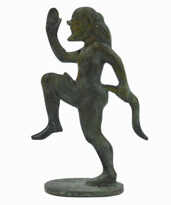 Satyr small bronze figure ancient Greece mythic creature Dionysus