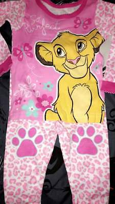 Disney The Lion King Simba Pink Baby Pajamas Size 9 12 18 24 Months New!