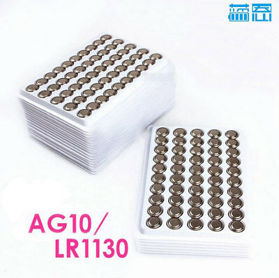 New 50Pcs LR1130 AG10 389 LR54 1.5V alkaline button battery DT07