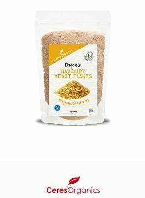 3 x 100g CERES ORGANICS Organic Nutritional Savoury Yeast Flakes ( 300g )
