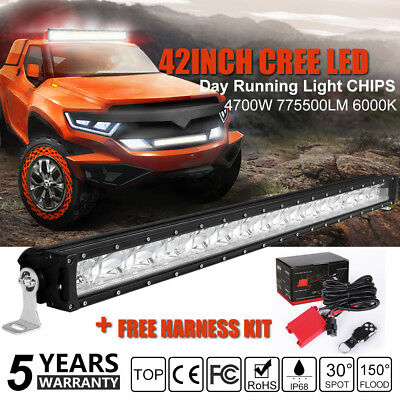 CREE 42Inch 560W LED Light Bar Flood Spot Work Off Road Ford Driving Lamp 50''32