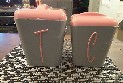 Gay ware cannisters x 2 tea and coffee