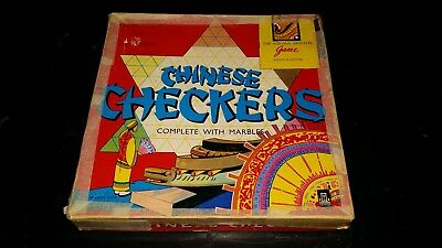 Vintage Chinese Checkers Board Game Milton Bradley John Sands