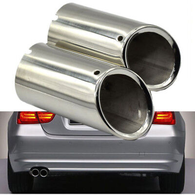 For BMW Exhaust Tail Pipe Tip Trim Stainless Steel E90 E92 325i 3 Series 06-10