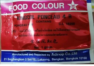 5-Bags-Food-Colour-Bright red : Star Brand-For-Cooking-Free-Shipping