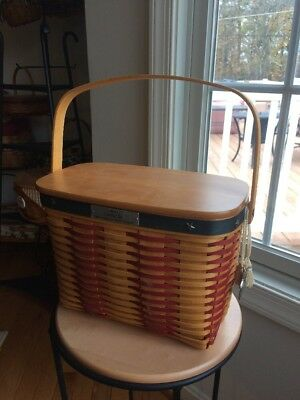 Longaberger Whistle Stop Basket Combo Collector Club New In Box