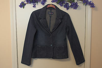 CUTE Classic Denim Blazer from LIMITED TOO for Girls size 14, Pre- Owned