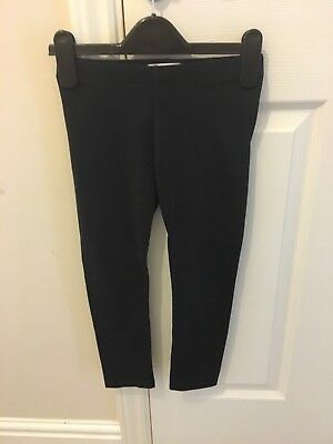 Girls M and S Black Leggings 7 Years