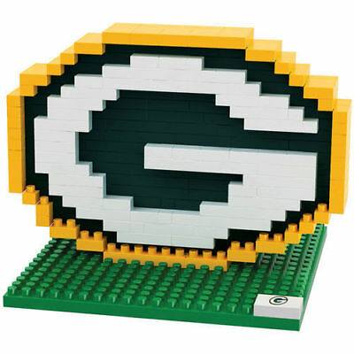 Green Bay Packers Nfl 3D Brxlz Team Logo Puzzle Consruction Block Set Toy