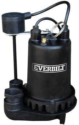 Heavy Duty Cast Iron Submersible Sump Pump Professional 1 HP Top Suction Design