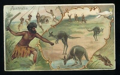 Lot 58: 1893 K-4 Arbuckle Coffee History Sports & Pastimes of Nations, Australia