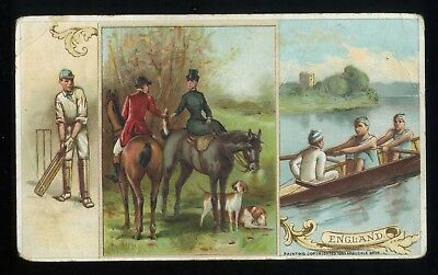 Lot 59: 1893 K-4 Arbuckle Coffee History Sports & Pastimes of Nations, England